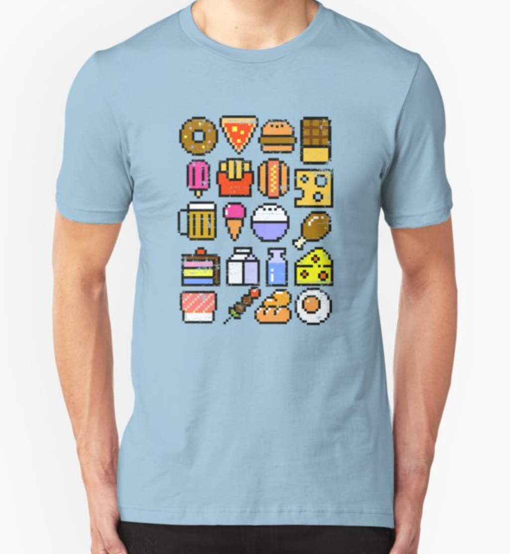 RedBubble: 8 bit Foodie v2