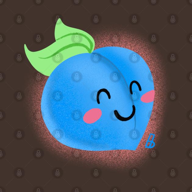 TeePublic: Blue Peach