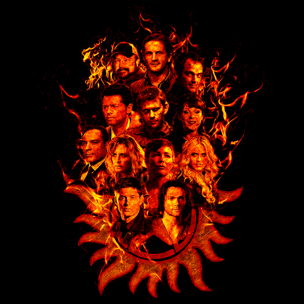 NeatoShop: Supernatural Sketch - Fire