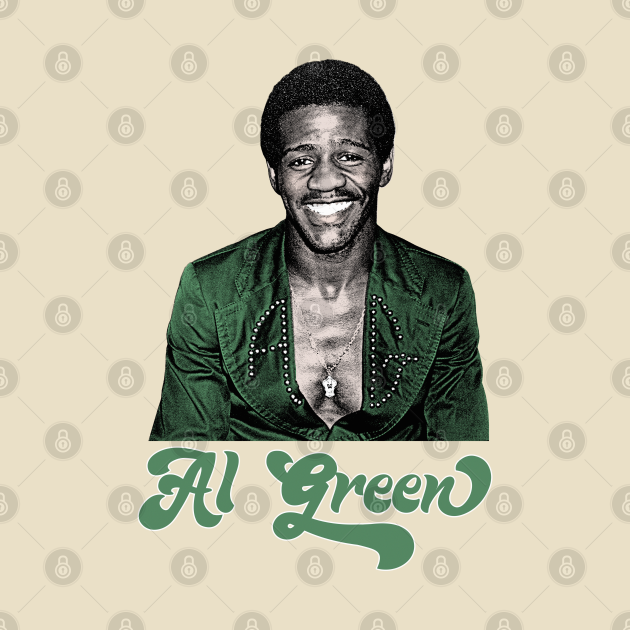 TeePublic: Al Green \\ Retro 70s Style Fan Art Design