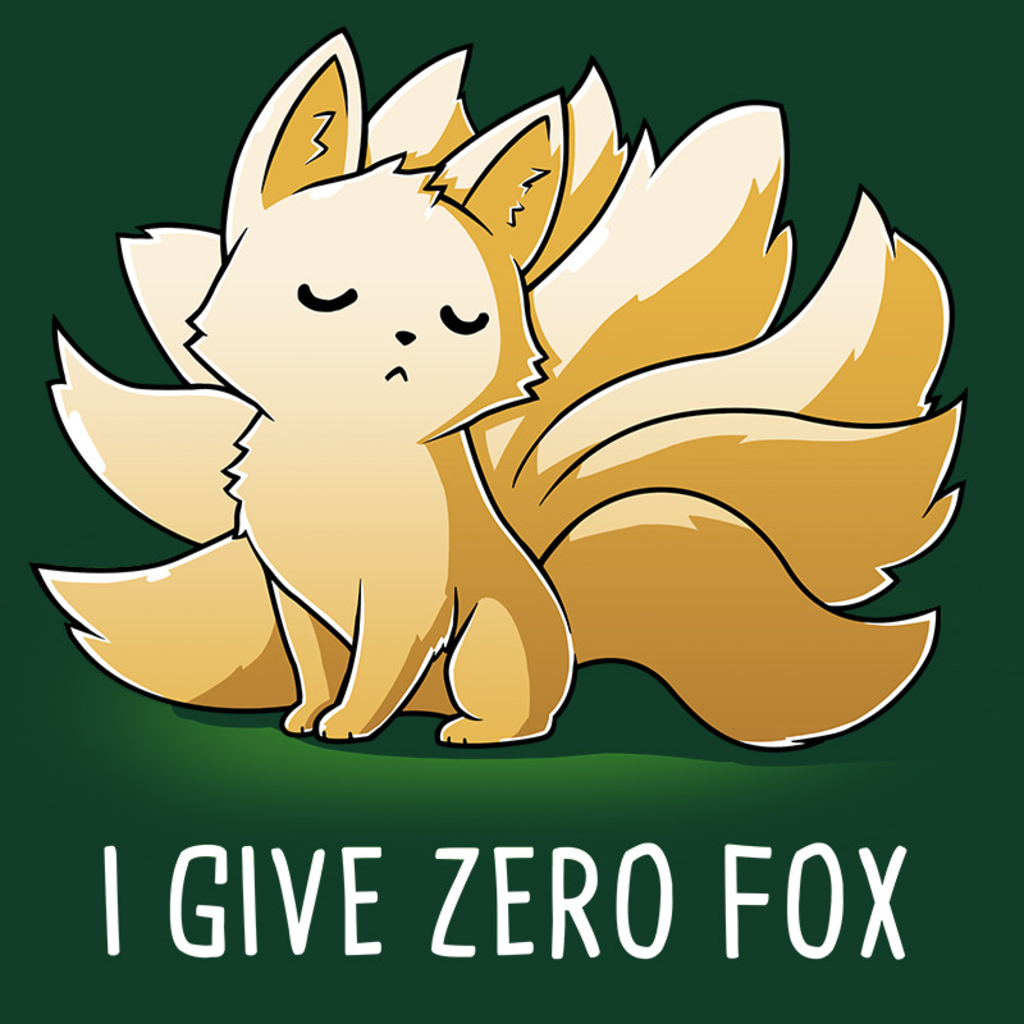 TeeTurtle: I Give Zero Fox (Green)