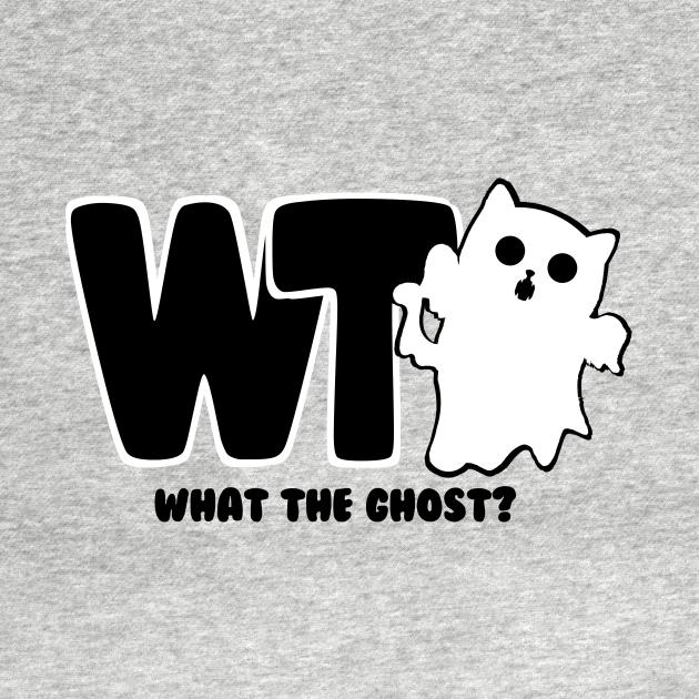 TeePublic: What The Ghost? Logo - Dark