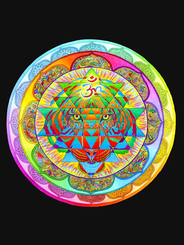 RedBubble: Inner Strength Psychedelic Tiger Sri Yantra Mandala