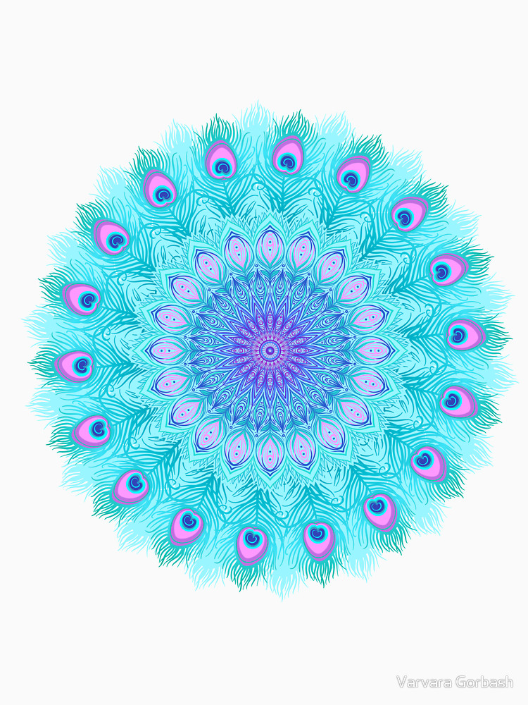 RedBubble: Peacock feathers mandala