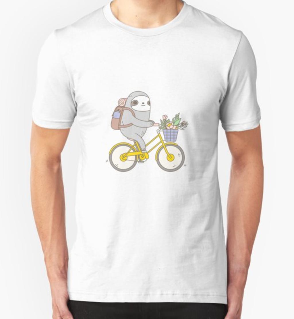 RedBubble: Biking Sloth