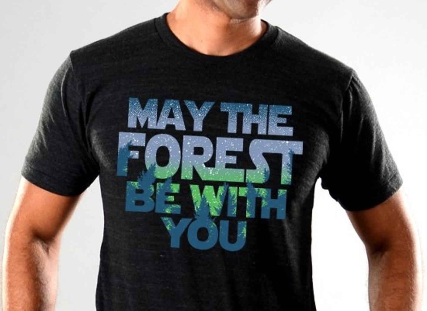 SnorgTees: May The Forest Be With You Limited Edition Tri-Blend