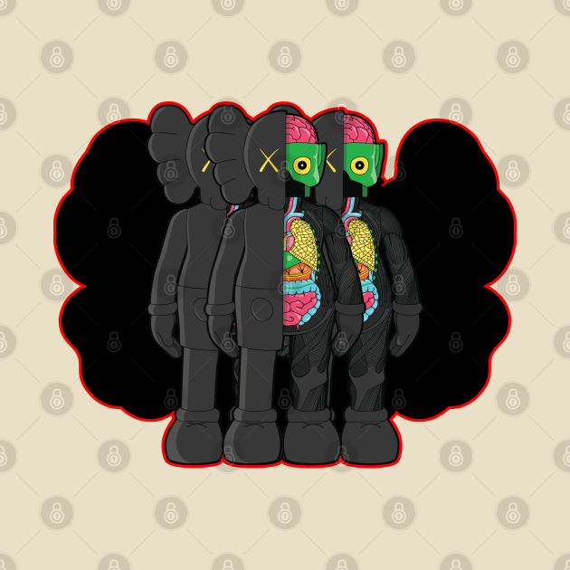 TeePublic: Kaws Companion Black