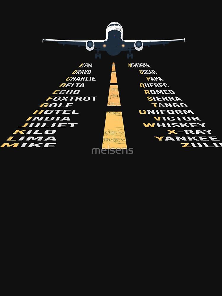 RedBubble: Phonetic Alphabet Design | Pilot Cadet Airplane Art