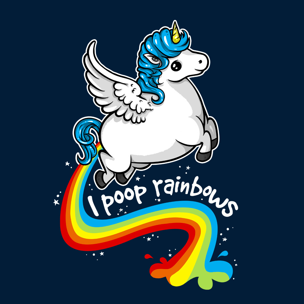 TeeTee: Poop Rainbows