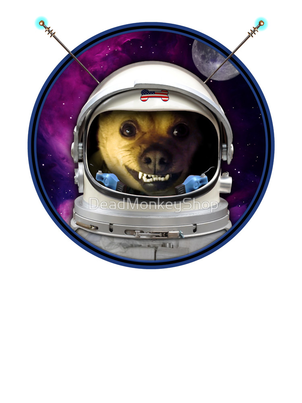 RedBubble: Rocky the Dog, Space Astronaut