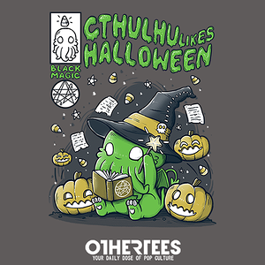 OtherTees: Cthulhu likes Halloween
