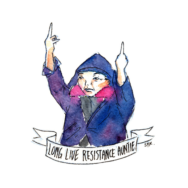 TeePublic: #ResistanceAuntie by Shing Yin Khor