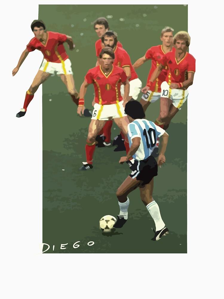RedBubble: Maradona vs Belgium
