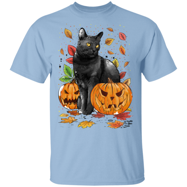 Pop-Up Tee: Cat Leaves and Pumpkins
