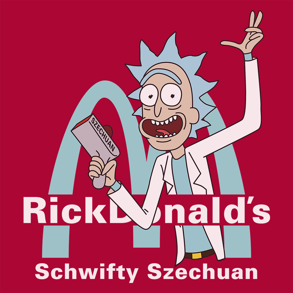 Pop-Up Tee: Rickdonalds Rick & Morty Szechuan