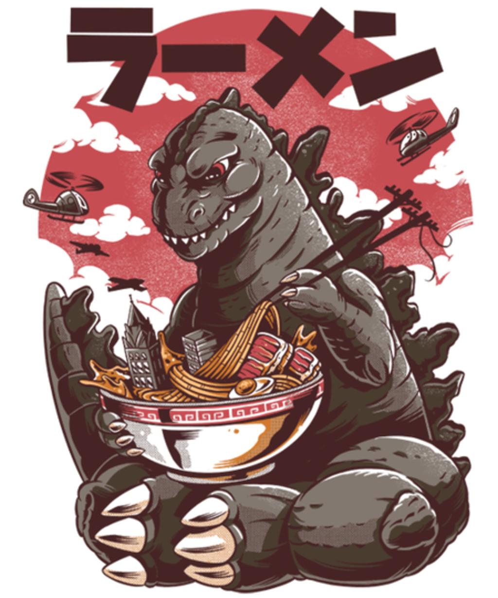 Qwertee: Kaiju's Ramen