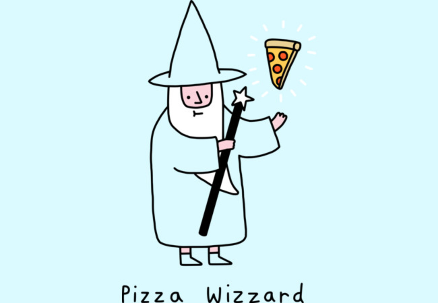 Design by Humans: Pizza Wizzard