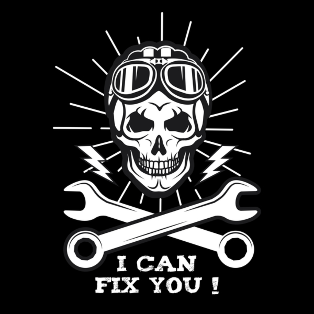 NeatoShop: I can Fix you - Racer Skull