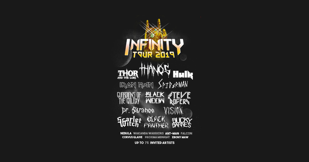 TeePublic: Infinity Tour 2019 - Hero Movie - Rock Metal Music Festival