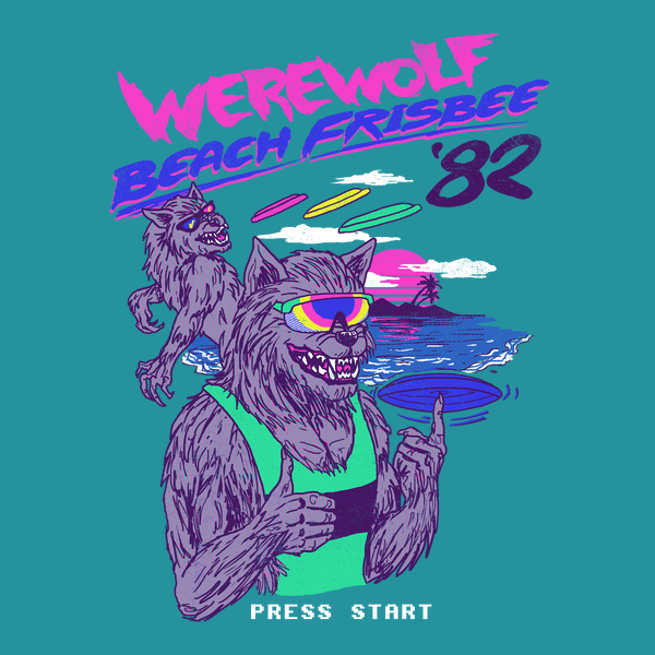 NeatoShop: Werewolf Beach Frisbee