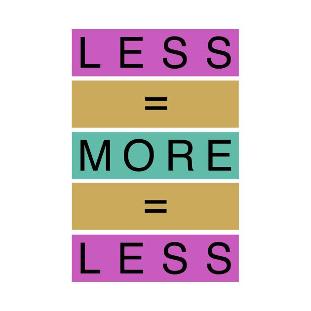TeePublic: Less Is More