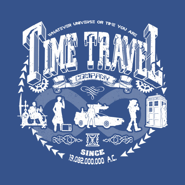 TeePublic: Time Travel Company T-Shirt