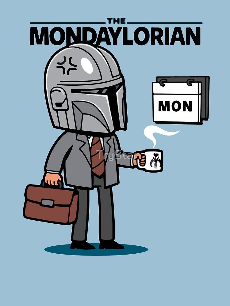 "RedBubble: Funny "" Mondaylorian "" Mandalorian Design"