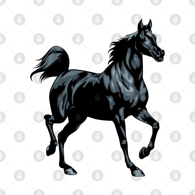 TeePublic: Black Stallion