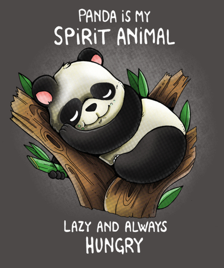 Qwertee: Panda is my spirit animal
