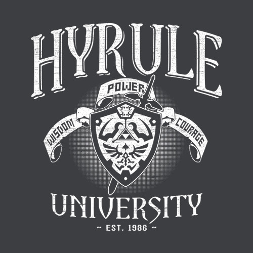 Five Finger Tees: Hyrule University T-Shirt