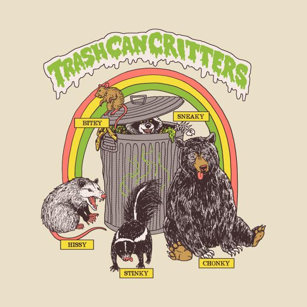TeePublic: Trash Can Critters