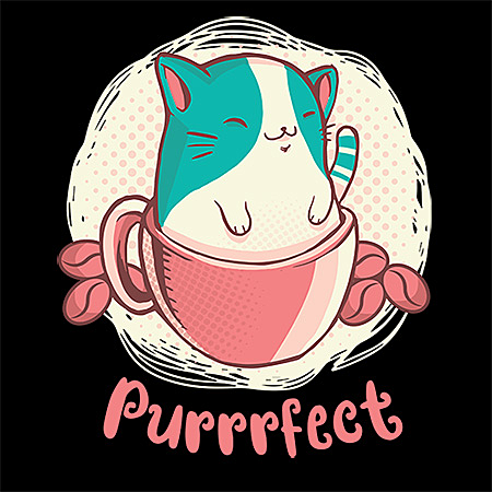 MeWicked: Cute Cat in Coffee Cup - Purrfect