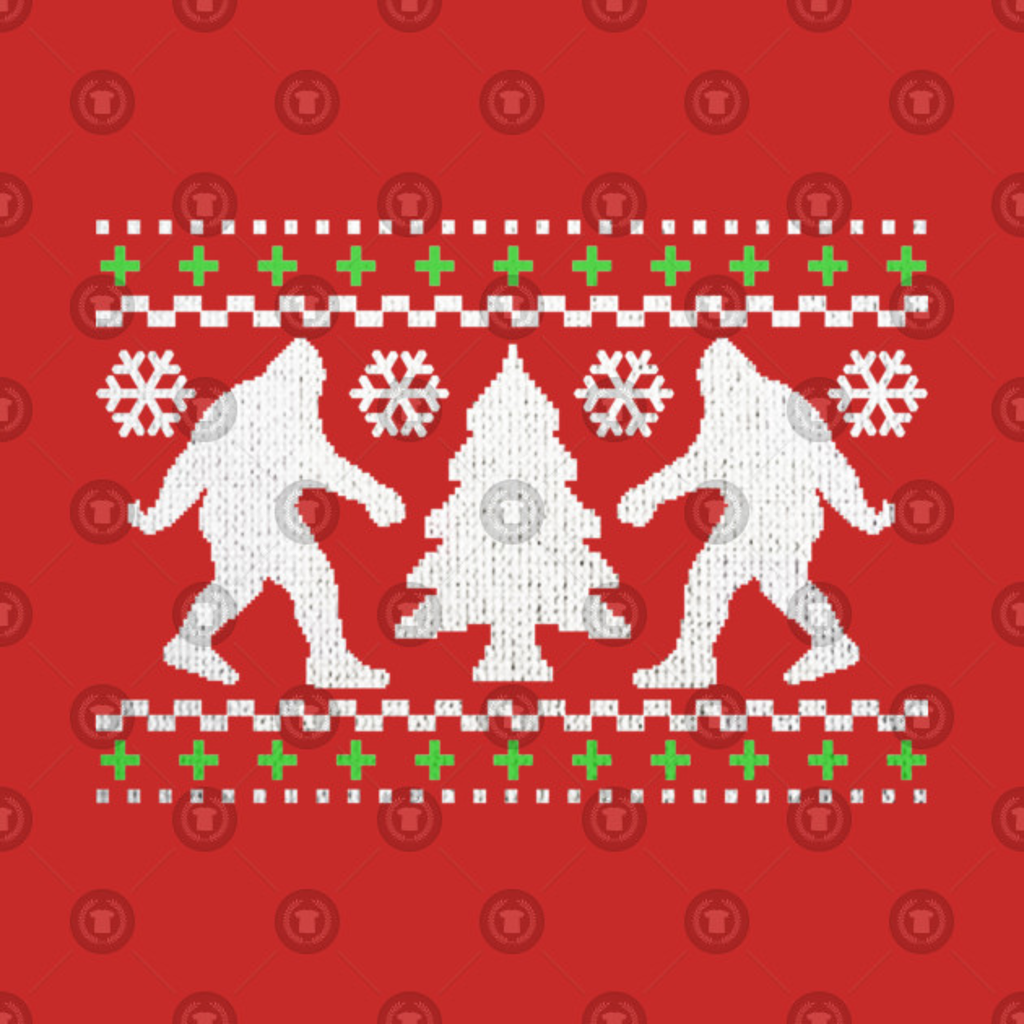TeePublic: Funny Bigfoot Ugly Christmas Holiday Sweater