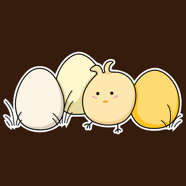 NeatoShop: Cute Kawaii Easter Chick and Eggs