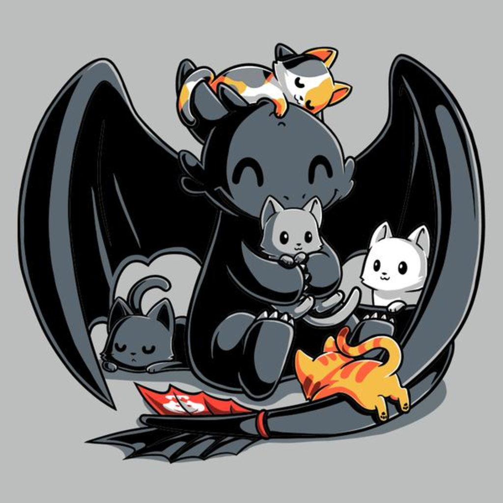 TeeTurtle: BFFs (Toothless and Cats)
