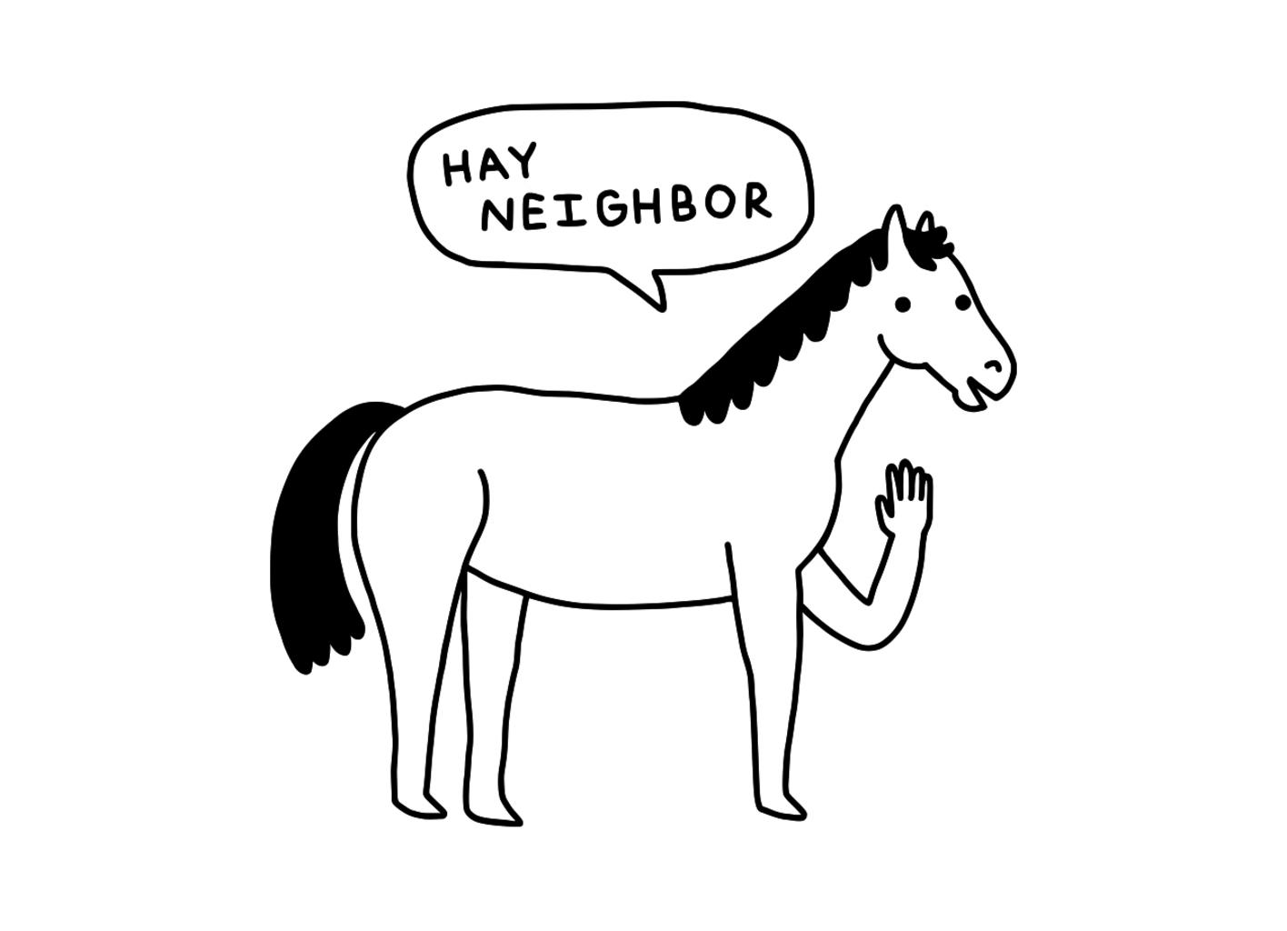 Threadless: Hi Horse