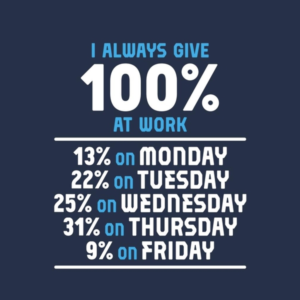 BustedTees: 100 Percent Work