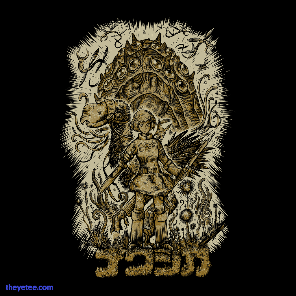 The Yetee: Blue-Clad One