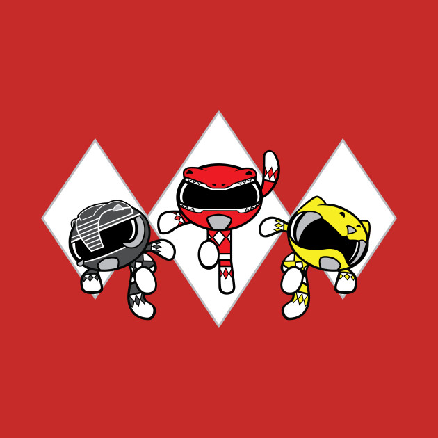 TeePublic: Mighty Morphin' Powerpuff Rangers (RBY) T-Shirt
