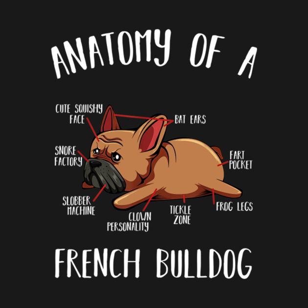 TeePublic: Anatomy Of A French Bulldog