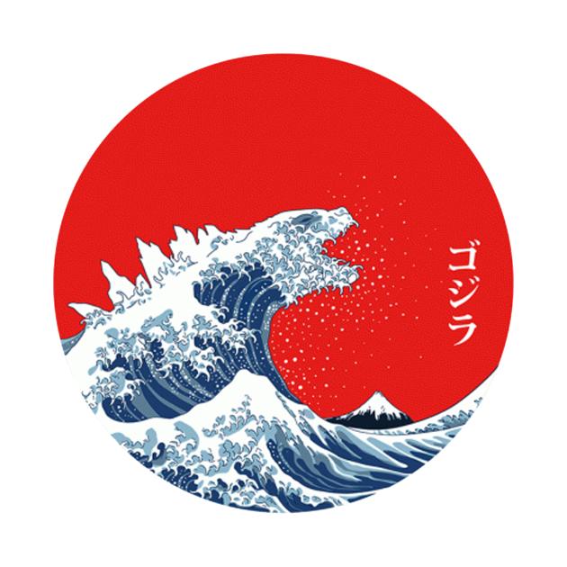 TeePublic: Hokusai Gojira