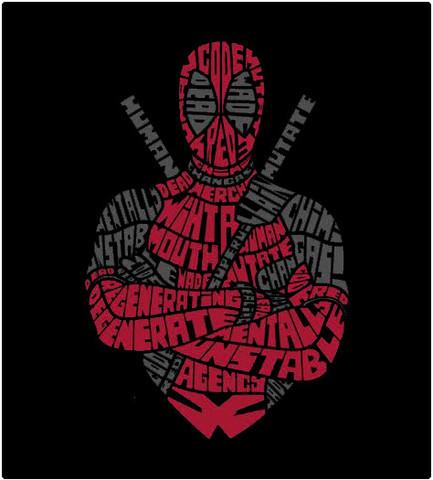 Shirt Battle: Deadpool Words