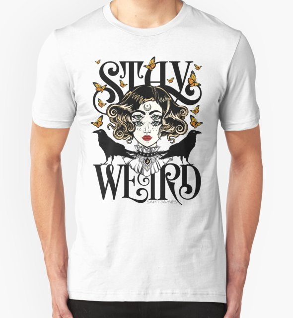 RedBubble: Rose and The Ravens {Stay Weird} Colour Version