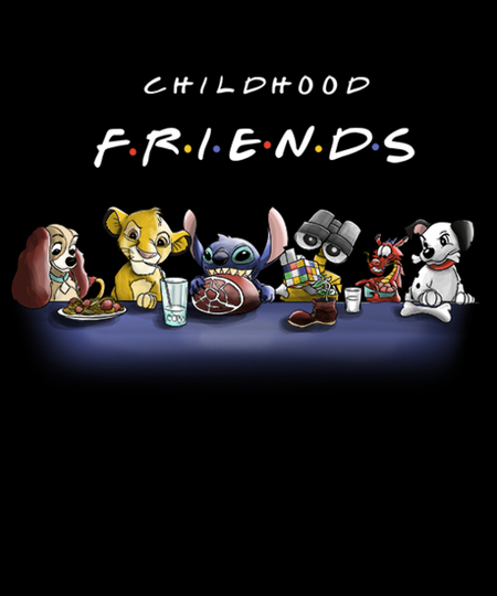 Qwertee: Childhood Friends