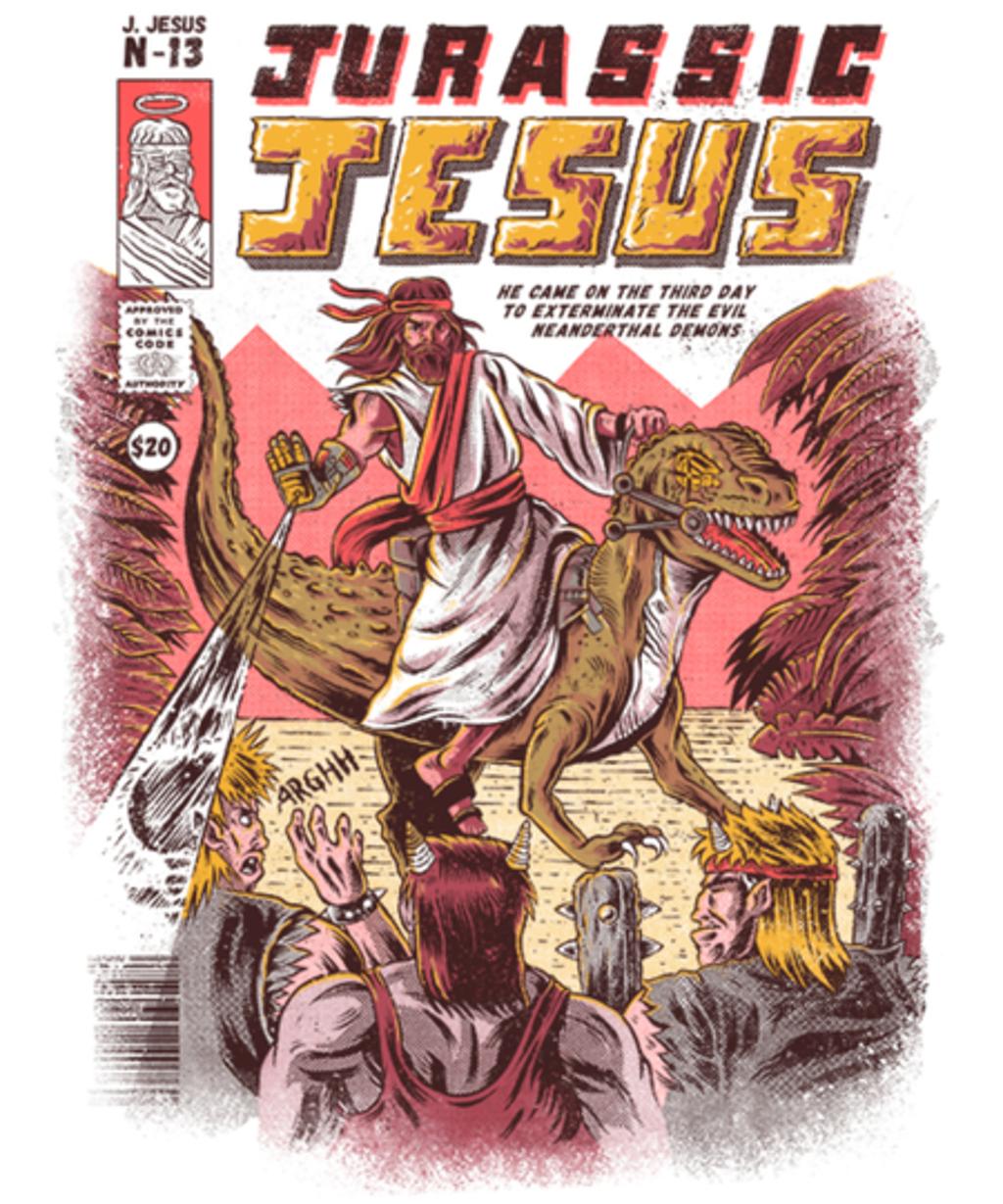 Qwertee: Jurassic Jesus