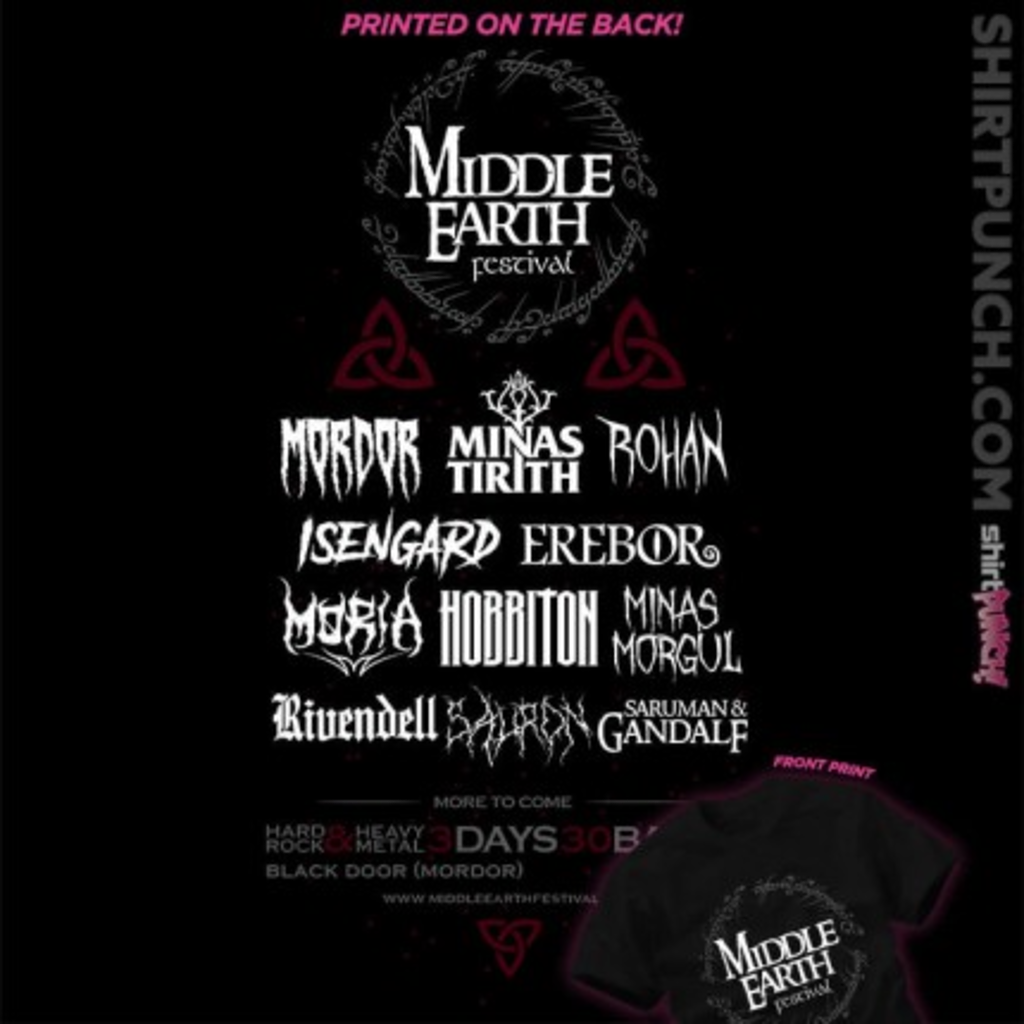 ShirtPunch: Middle Earth Festival