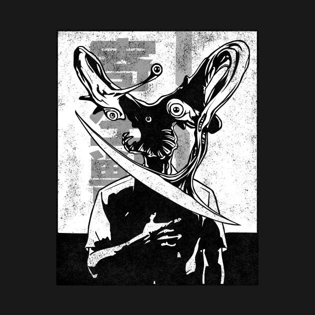 TeePublic: Parasyte Manga style