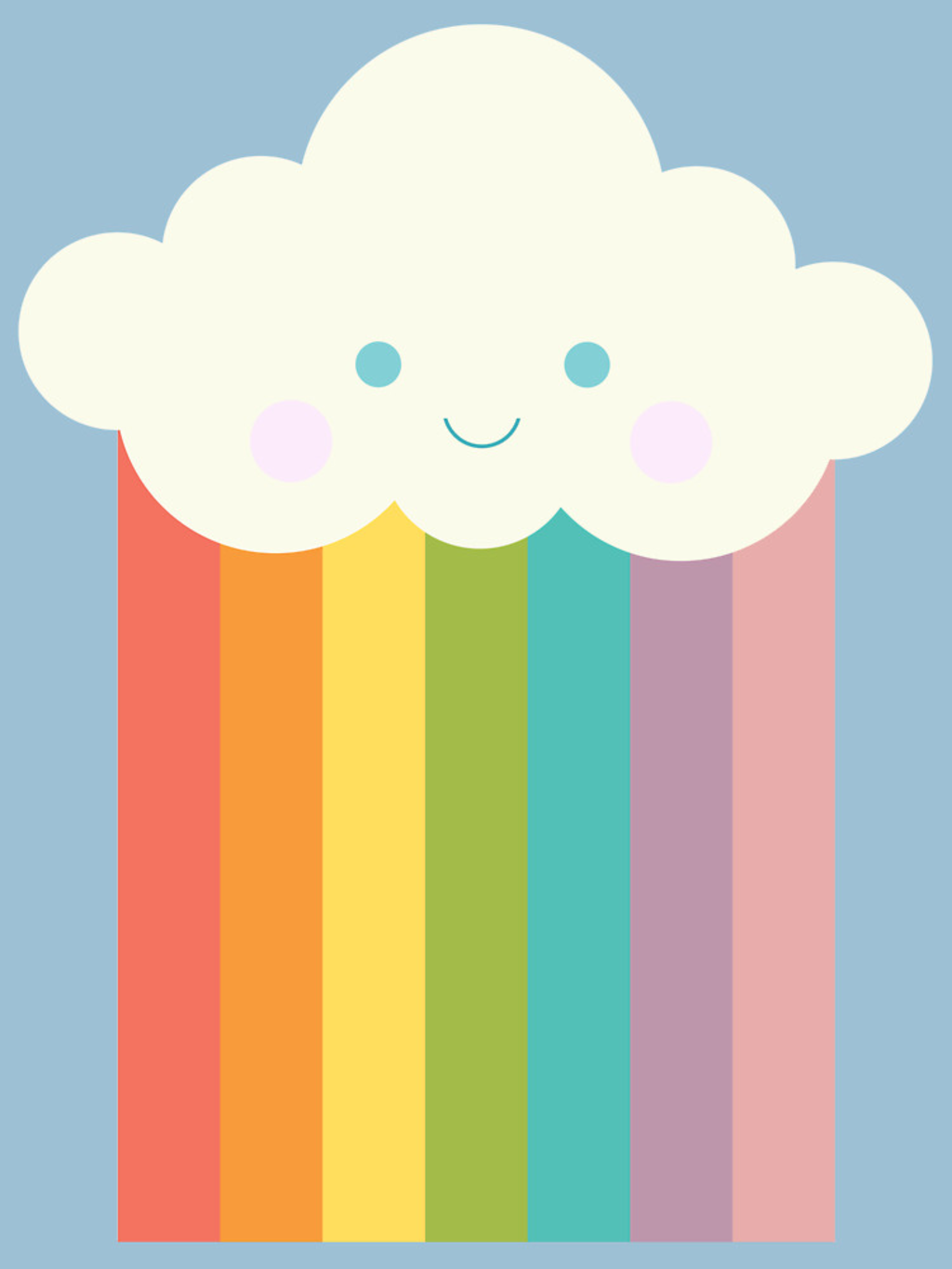 RedBubble: Proud rainbow cloud