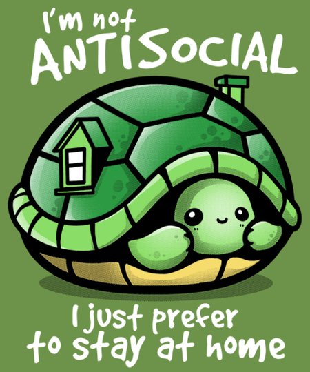 Qwertee: Antisocial turtle