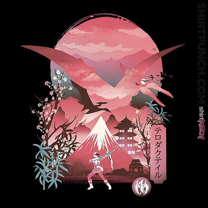 ShirtPunch: Pink Ranger Ukiyoe